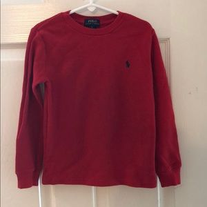 Ralph Lauren size 6 boys, Pullover thermal red
